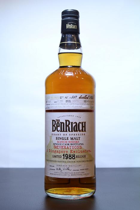 BenRiach Single Malt Limited 1988 Release Generations